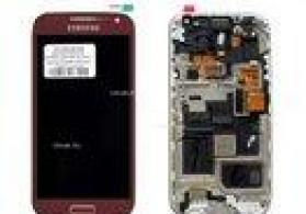 Ekran Samsung i9190 Galaxy s4 mini ucun, qirmizi