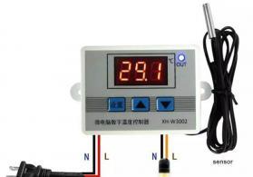 Termoregulyator termostat inqibator üçun istiliy tənzimləyən 220v 10 amper