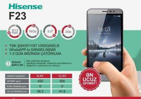 hisense f23 ilkin odenissiz kreditle telefonlar