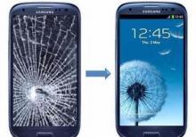 Siniq telefon ekranlarin berpasi