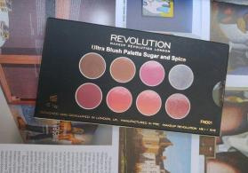 Makeup Revolution London Sugar and spice Ultra Blush and Higlight palette.