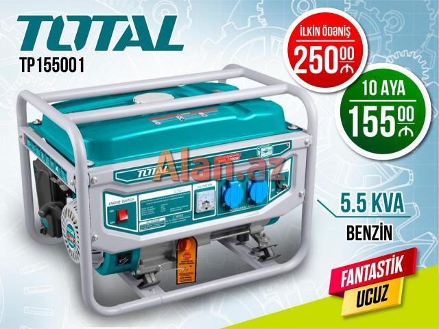 Generator Total 5.5 KVA Benzinlə  Kreditlə