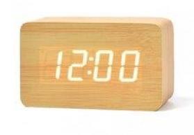 Bambuk LED termometrli zəngli saat