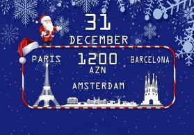 Barcelona-Paris-Amsterdama Qrup Turu Yeni İlə Özəl