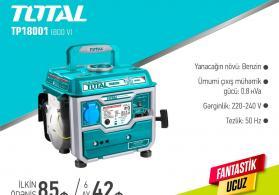 Generator Total 0.8 kVa Benzinlə Hissə Hissə Ödənişlə Arayışsız və Zaminsiz