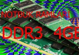 DDR3 4gb notbuk ramları
