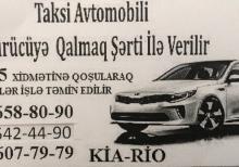 Taksi Aftomobili Qalmaq Şərti ilə Verilir