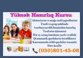 Azerbaycan dili ve Edebiyyat fenninden hazirliq