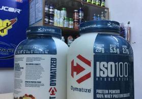 DYMATIZE ISO 100 PROTEIN 25 gr BCAA 5.5gr LEUCINE 2.7 gr 2.3 kq 70 servings