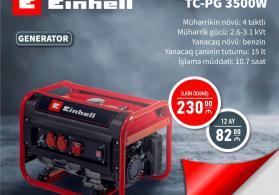 Generator Einhell 2.6-3.1 kVt Hissə Hissə Ödənişlə Arayışsız Zaminsiz