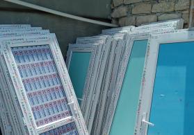 İslənmis ve teze plastik pencere qapi