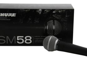 Shure SM 58 dynamic vocal kabelli mikrafon.