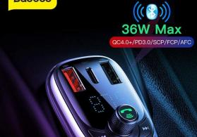 Baseus brendinden avtomobilde istifadesi nezerde tutulmus Fm modulator.
