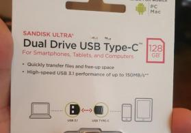 Sandisk Type C 128Gb Flaskart Dual Telefon ucun Flashkart