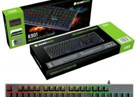 Original GameMax K901 mexaniki oyun ucun isiqli klaviatura