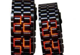 Qırmızı LED işıqlı Lava saat Yeni