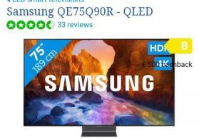Televizor Samsung QE 75Q90RAUXRU 2019 model 190 ekran 4K UHD / HDR model
