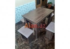 Masa + 4 oturacaq