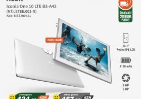 Planşet Acer Iconia One 10 LTE B3-A42 Həm Endirimli Nəğd Qiymətə Həm Kreditlə