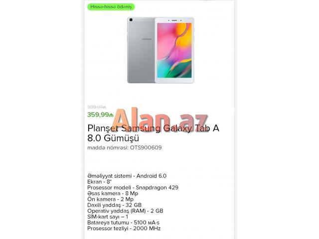 Planşet Samsung Galaxy Tab A 8.0 Gümüşü
