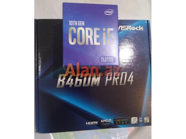 Prosessor i5 10400 və B460 anaplata