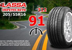 Lassa İmpetus Revo 205/55R16 avtomobil təkəri