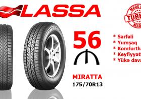 Lassa 175/70R13 MIRATTA 82T təkərləri