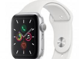 Smart-saat Apple Watch Series 5 44mm Silver Aluminum Case with White Sport Band