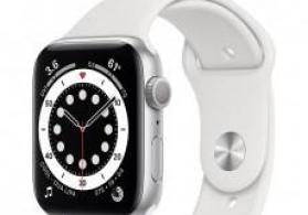 Smart-saat Apple Watch Series 6 44mm Silver Aluminium Case with White Sport Band