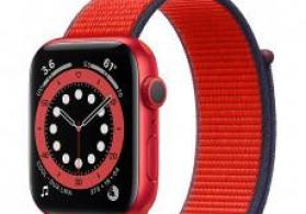 Smart-saat Apple Watch Series 6 44mm Product RED Aluminum Case with Red Sport Band