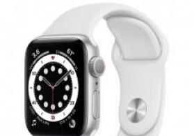 Smart-saat Apple Watch Series 6 40mm Silver Aluminium Case with White Sport Band