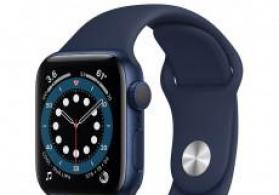 Smart-saat Apple Watch Series 6 40mm Blue Aluminum Case with Deep Navy Sport Band
