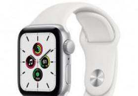 Smart-saat Apple Watch SE 40mm Silver Aluminium Case with White Sport Band
