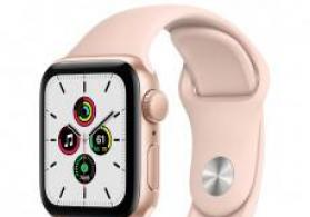 Smart-saat Apple Watch SE 40mm Gold Aluminium Case with Pink Sand Sport Band