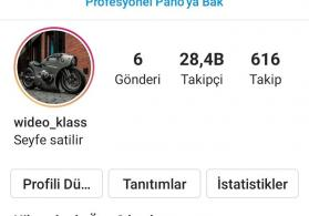 Instagram seyfesi satilir