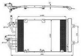 "Opel Astra H 1.9CDTI"" kondisioner radiatoru"