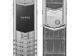 Vertu Signature S Design Chrome Grey Alligator