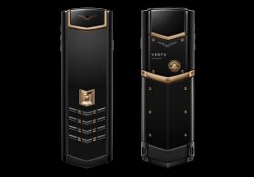 Vertu Signature S Design Black Gold Ceramik&Alligator