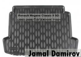 Renault Megane Classic II SD 2003-2008 üçün bagaj örtüyü